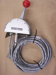 Detroit Diesel Electronic Single Lever Control Head with Cable Slim Line New