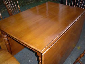 Pennsylvania House Cherry Gateleg Table 2 Leaves Table Covers No Chairs