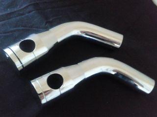 "Custom Chrome 6 1 2"" Pullback Handlebar Riser Kit Harley Chrome Plated Aluminum"