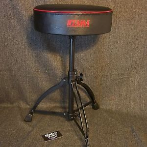 Tama Drums Sets Hardware HT130BRB Drum Throne Seat Chair Black Top Black Base
