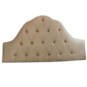 Skyline Furniture Tufted High Arch Upholstered Headboard in Queen Pearl 862