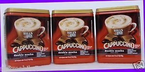 3 Hills Bros Cappuccino Double Mocha Drink Mix Enjoy Hot Cold Coffee House