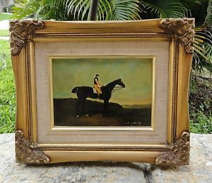 Anton Mauve Dutch 1800s Wood Panel Painting He Married Vincent Van Gogh's Cousin