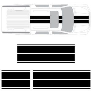 Toyota Tundra Dual Rally Racing Stripes 3M Double Stripe Decals