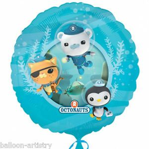 "18"" Octonauts Party Adventure Captain Barnacles Kwazii Peso Round Foil Balloon"