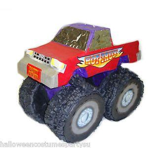 Monster Truck Pinata Monster Jam Theme Birthday Party Games Supplies