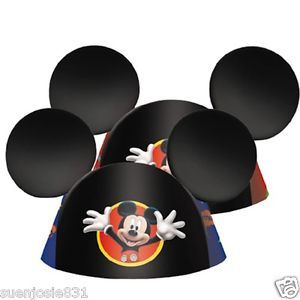 Disney Mickey Mouse Ears 8ct Party Hats Favors Party Supplies