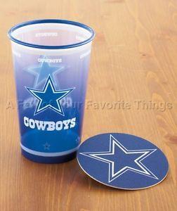 Dallas Cowboys 16 PC 20 oz Stadium Cup Coaster Party Drink NFL Football Fan