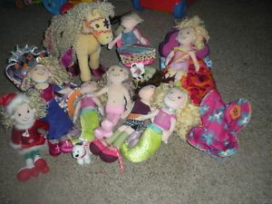 Groovy Girls Dolls Bed Chairs Horse Set w Myra The Mermaid Huge Lot