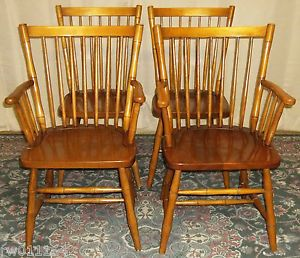 22317 Stickley Cherry Valley Large Windsor Fan Back Arm Chair