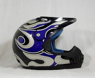 THH T690 Youth Small Color Black Blue Silver Motorcycle Helmet NOS