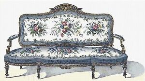 Victorian Chair 2 Counted Cross Stitch Pattern 239 Victorian Furniture Chart