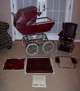 Vintage Wonda Chair Baby Carriage Buggy Stroller Chair Rocker Bassinet  1950s 60s