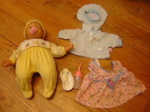 """Zapf 15"""" Baby Doll with Bottle Pacifier and Clothing"""