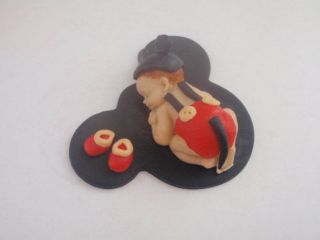 Fondant Edible Baby Mickey Mouse Cake Topper Baby Shower Birthday