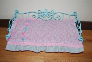 Battat Our Generation American Girl Doll Bed Daybed Trundle Turquoise