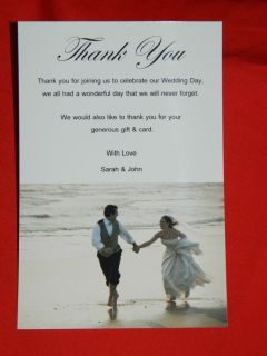 TW5 Personalised Wedding Photo Thank You Cards Notes Postcard Style