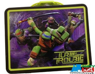 Teenage Ninja Turtles TMNT Tin Lunch Box Sandwich Bag Pencil Coloring Container