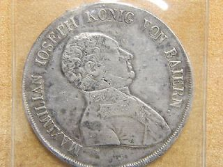 Circulated Condition 1808 Bavaria Germany 1 Taler Silver Coin 632