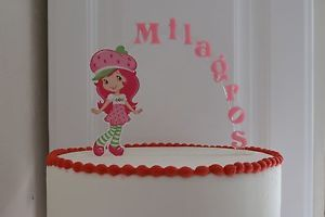 Strawberry Shortcake Personalized Cake Topper or Any Character Cake Decoration