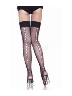 Sexy Black Fishnet Net Thigh High Stockings Tights Pantyhose Hollowed Out Style