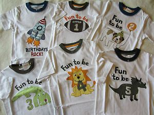 Gymboree Boys Birthday Shirt Fun to Be 4 5 Birthdays Rock 2T 3T 4T 5T