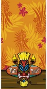 Tiki Time Table Cover Hawaiian Tropical Luau Themed Party Supplies