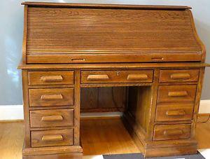 Jasper Cabinet Solid Oak Roll Top Desk