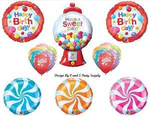 Sweet Candy Crush 16 Happy Birthday Balloons Decorations Supplies Saga Candyland
