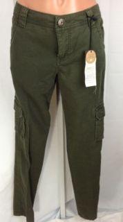 Sanctuary Olive Green Cargo Pants Cotton Spandex Sz 28 Includes Peace Charm