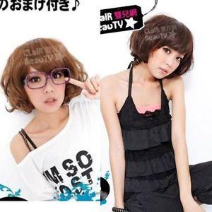 Womens 2012 Party Natural Short Straight Full Hair Wig Cap S0073 LWMB003