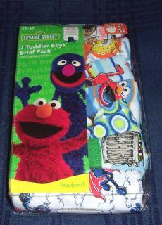 Sesame Street Elmo Cookie Monster Oscar The Grouch Big Bird 7 Briefs Boys 2T 3T
