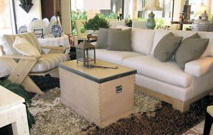New Nautica North Shore 3 Piece Set Sofa Chair Storage Coffee Table