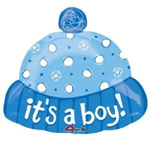 "18"" It's A Boy Hat Balloon Baby Shower Party Supplies Decorations Blue Beanie"