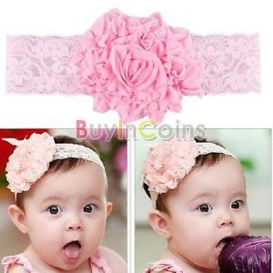 Children Girls Baby Toddler Kids Elasticity Roses Flower Clothing Hair Headband