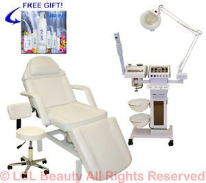 11 in 1 Facial Machine Hydraulic Massage Table Bed Chair Beauty Salon Equipment