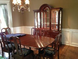 pennsylvania house cherry dining room furniture | 6249 Signed Pennsylvania House Cherry Accent Console Hall ...