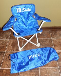 Kid's Duke Blue Devils Fold Up Chair with Carrying Case