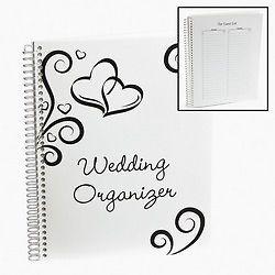 Wedding Two Heart Party Spiral Organizer Book Guest List Calendar