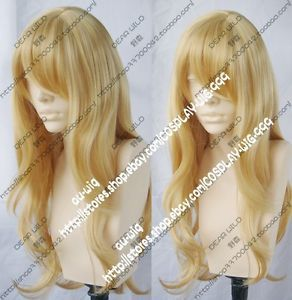 Fashion Animation New Long Blonde Cosplay Party Wavy Wig