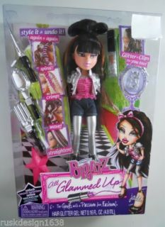 New Bratz Jade All Glammed Up Doll Hair Styling w Glitter Gel Clips Online Code