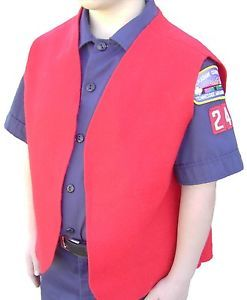 Cub Boy Scout Red Felt Patch Vest Medium
