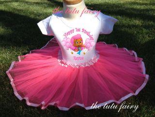 Pink Bubble Guppies Birthday Outfit Name Age Shirt T Shirt Tutu Set Girl Baby