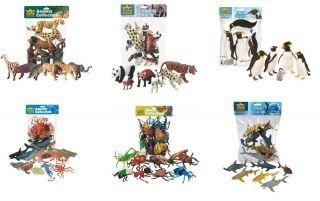 New Wild Republic Polybag Plastic Toy Figures Wild Animals Insects Aquatic Set