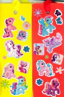 18 My Little Pony Foam Ribbon Bookmarks Party Favors Handmade Blue Purple Green
