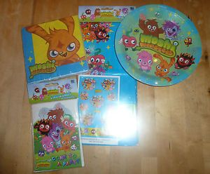 Moshi Monsters Birthday Party Plates Napkins Tablecover Party Invites Party Bags