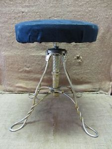 Vintage Brass Stool Antique Old Stools Chair Plant Stand Table RARE 7040
