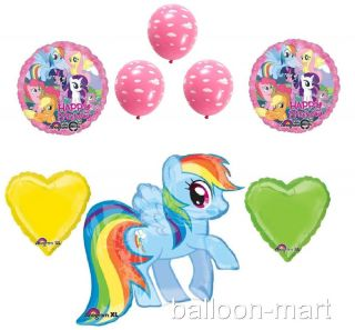 My Little Pony Deluxe Balloons Birthday Party Supplies Pink Clouds Rainbow Dash