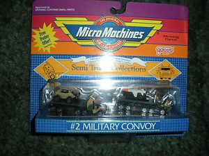 Micro Machines Military Convoy Semi Trucks Military Flatbed Cabover Missile