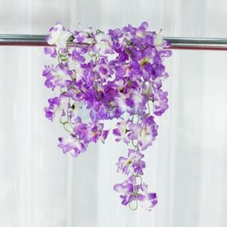 2X Artificial Purple Azalea Garland Silk Vine Flower Wedding Garden Decoration